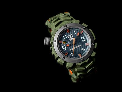 The perfect tactical timepiece for that perfect tactical turtleneck.  Tire'd Watch Company's Rapide Green.