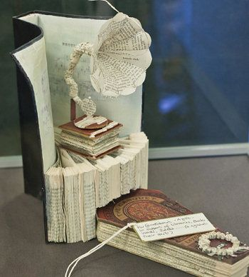 I would love to feature book sculpture art from the mysterious Edinburgh artist.