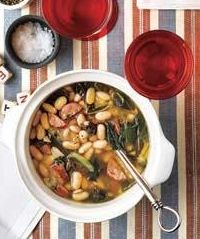 White Bean Soup with Andouille and Collards