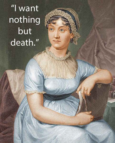 Dying words of Jane Austen