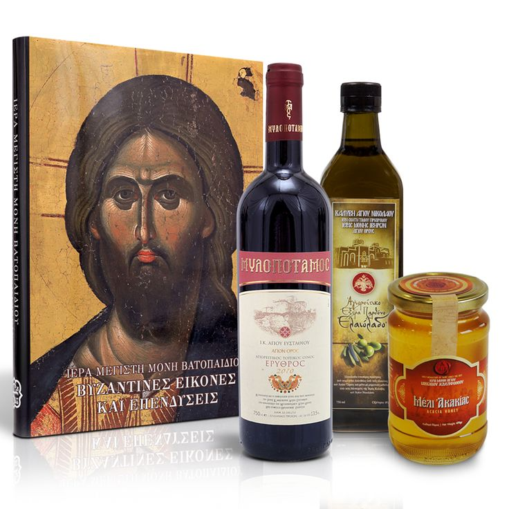 A collection of exquisite monastery products that will enchant you with their high quality features. Μια συλλογή εκλεκτών μοναστηριακών προϊόντων που με τα ποιοτικά χαρακτηριστικά τους θα σας γοητεύσουν. #gift #package #monastery #mount #athos #mt #athos #crafts #products #orthodox #handicrafts #shop #holymountathos #agiooros #agionoros