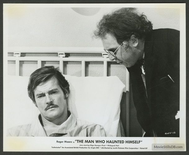 The Man Who Haunted Himself - Publicity still of Roger Moore & Freddie Jones