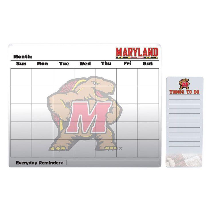 Maryland Terrapins Dry Erase Calendar & To-Do List Pad Set, Multicolor