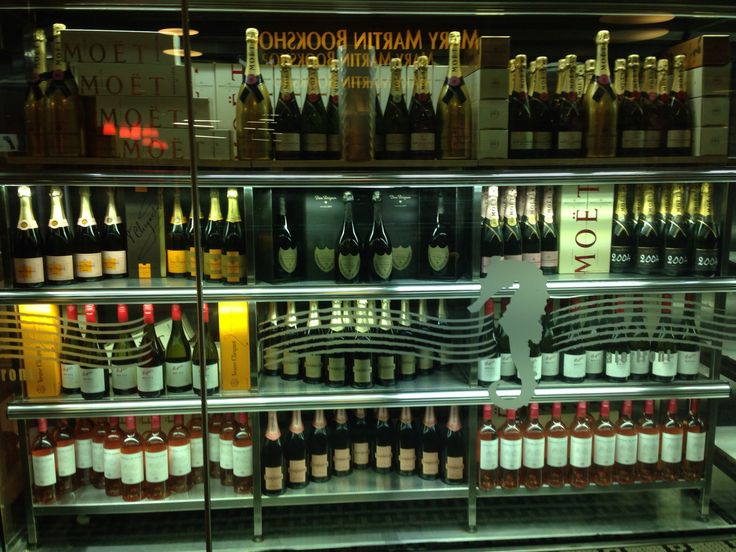 What every lady needs In her kitchen .. A fridge full of champagne .
