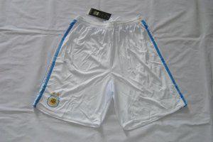 2016 Argentina Soccer Team White Replica Shorts [F748]