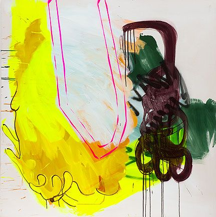 Sabine Tress, Abracadabra, 2012, 150x150cm (59 x 59 inches), acrylic paint and spray paint on canvas (courtesy of the artist)
