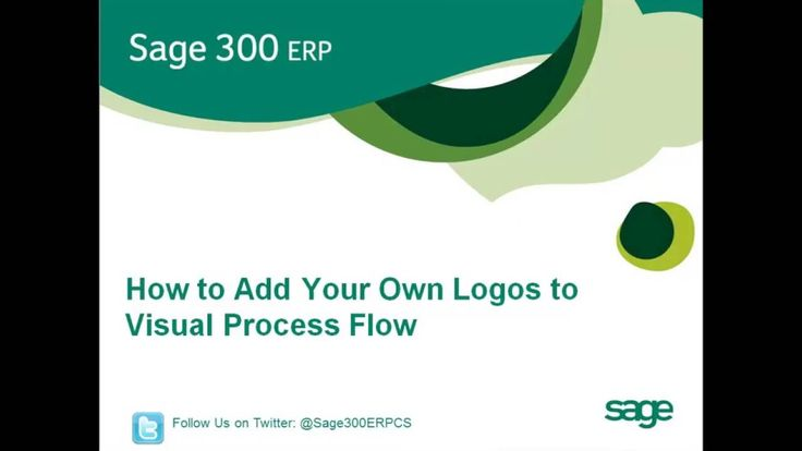 Sage 300 How to Add Your Own Logo to Visual Process Flow (North America)