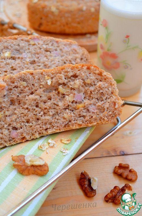 Хлеб с отрубями, грудинкой, сыром, орехами и майораном - кулинарный рецепт