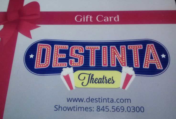 Treat the ones you love to the movies with a Destinta Gift Card! Load it up with the amount you wish and give the gift of hours of entertainment!