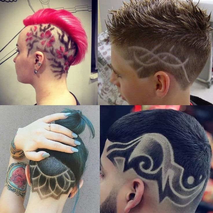 Hair Tattoo Template Men Clippers Tattoo Fashion Hair Trimmer Hair Clipper Accessories Carved Hair Pattern Mens Trimmer Set #Affiliate