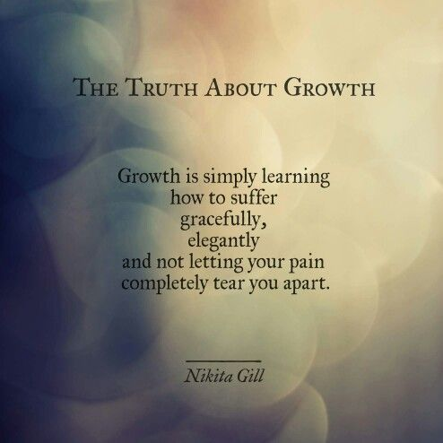 The truth about growth
