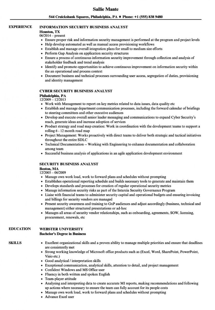Cyber Security Analyst Resume Best Of Security Business