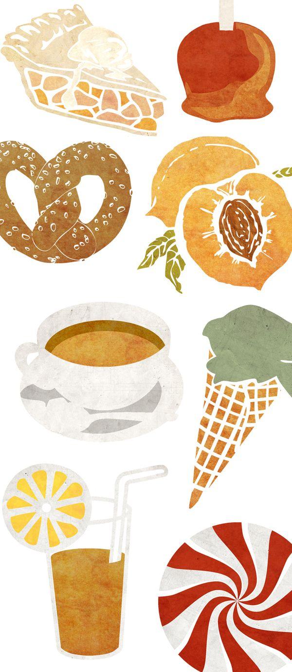 Recipe Calendar by Stephanie Sohn, via Behance