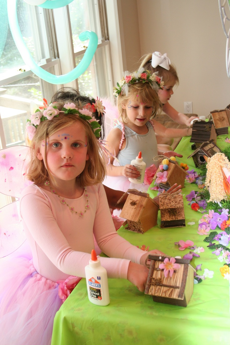 Making fairy houses. Birthday party idea, or just for a rainy day.