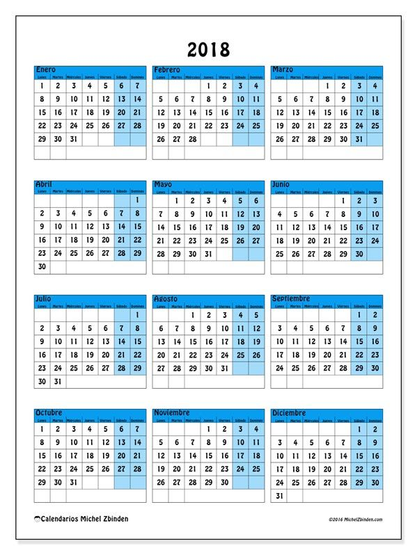 calendario anual 2018 - Etame.mibawa.co
