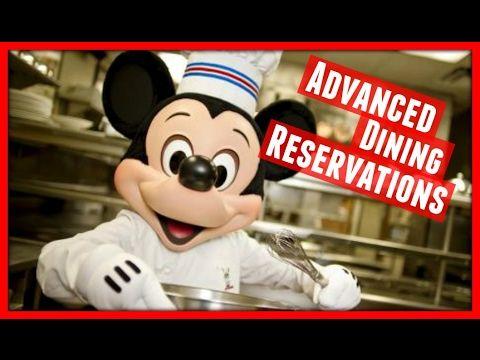Advanced Dining Reservations for Walt Disney World!