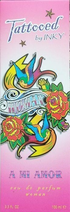 Tattooed by INKY ~ A Mi Amor eau de parfum Woman Womens Spray Perfume 3.3 oz NEW #PreferredFragrance