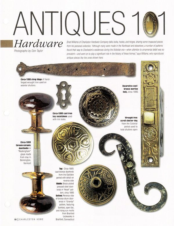 Our antique hardware and reproduction hardware featured in ...
