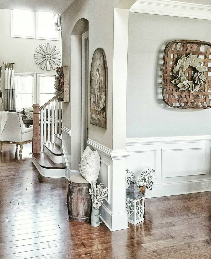 Elegant Who Says Neutrals Canu0027t Pop? We Love How Jubilee SW 6248 Enhances The.  Entryway Paint ColorsRustic Paint ColorsInterior Paint ColorsDining Room ... Part 4