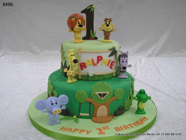 Join Raa Raa the noisy lion and is friends cake http://www.cakescrazy.co.uk/details/raa-raa-the-lion-cake-8496.html
