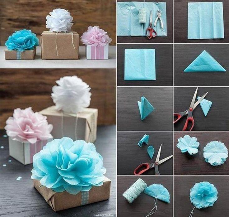 Foto: bloem van servet maken. Leuk om cadeautjes mee te versieren. Geplaatst door liekje1970 op Welke.nl