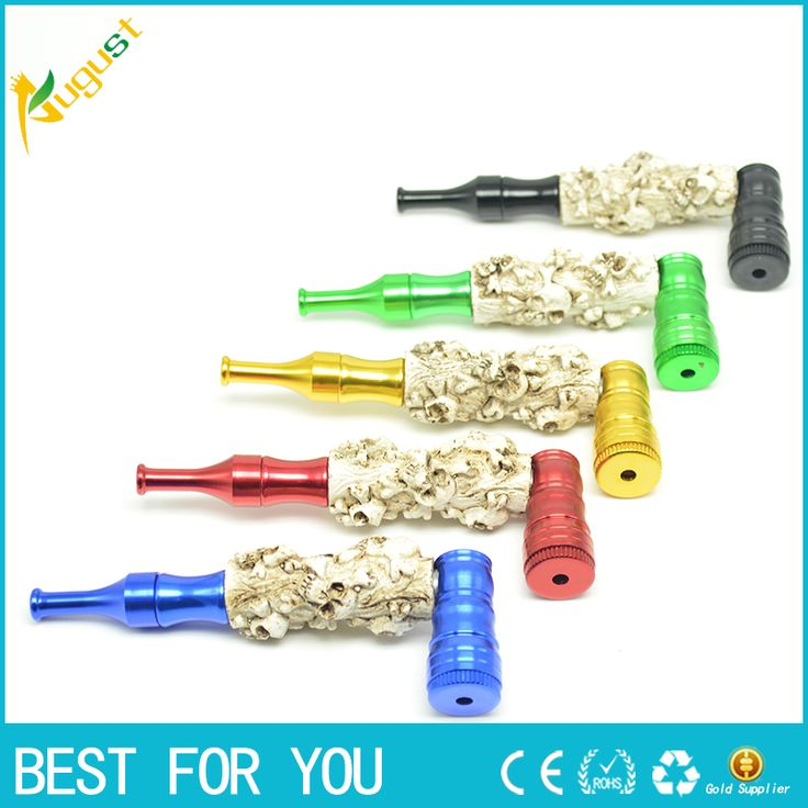 100pcs/lot  High quality Resin tobacco metal smoking pipe with vesuvianite more convenient for gift Cigar grinder