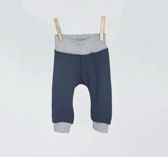 Bamboo baby leggings modern grey neutral by pineapplepetekids