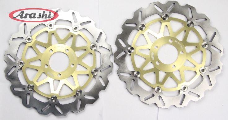 Arashi CNC Front Brake Disc Brake Rotors FOR KAWASAKI ZX7R 750 NINJA/ZXR L750/ZX9R 900/ZZR1000/1200/VN MEAN 1500 (Left & Right) #Affiliate