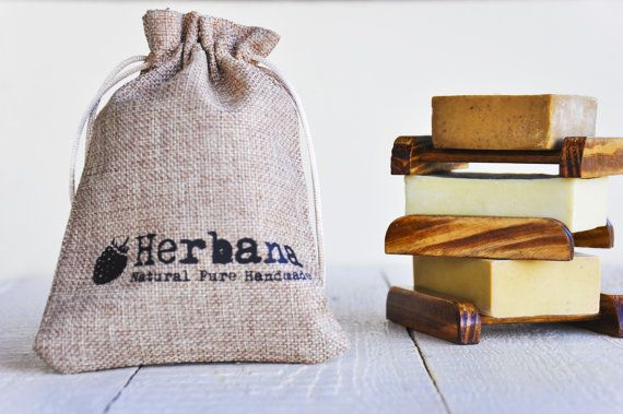 Bar Soap Gift Set, Body Bar Soap, Face Soap. Bar Shampoo, Wooden Soap Base, Gift ideas, Gift for Him, Gifts for Everyone by HerbanaCosmetics  All Natural gifts for everyone! A unique Christmas gift idea for people you love!  You will receive:  1) A gift bag 2) A wooden soap base 3) A Cold process body bar soap (100gr) or a hair bar soap (100gr) or a face bar soap (50gr)  Choose one from our Cold Process Organic Bar Soaps Collection http://etsy.me/2fSHQML FREE * Parabens * Silic...