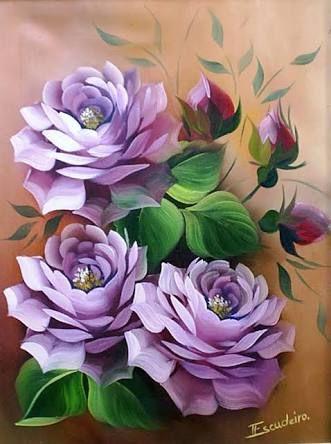 vaso de porcelana pintura em tela - Pesquisa Google
