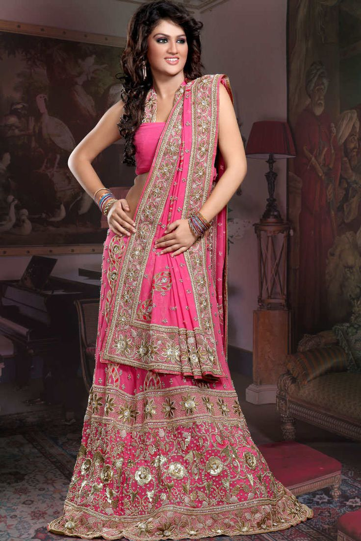Pink bollywood style dress india pinterest indian for Indian wedding dresses online india