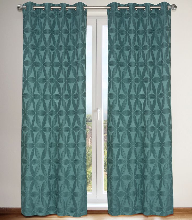 Design inspired by the classic '60s era, tone on tone floral and faux embroidery detailing give Daisy curtains a unique and elegant look.    Available in silver grey, ivory, grey and sea blue.