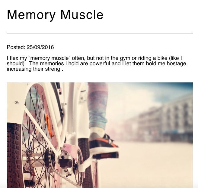 This week's #ABCs post is about my Memory Muscle - how I often let my memories hold me hostage, instead of flexing my faith muscle. Read more at emilyenns.com