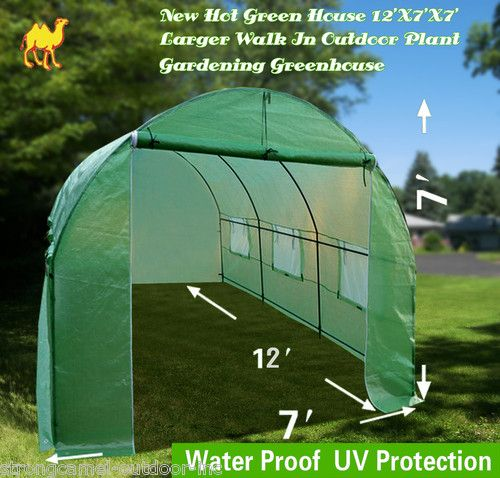 New Hot Green House 12'X7'X7' Larger Walk In Outdoor Plant Gardening Greenhouse  Price:US $94.00