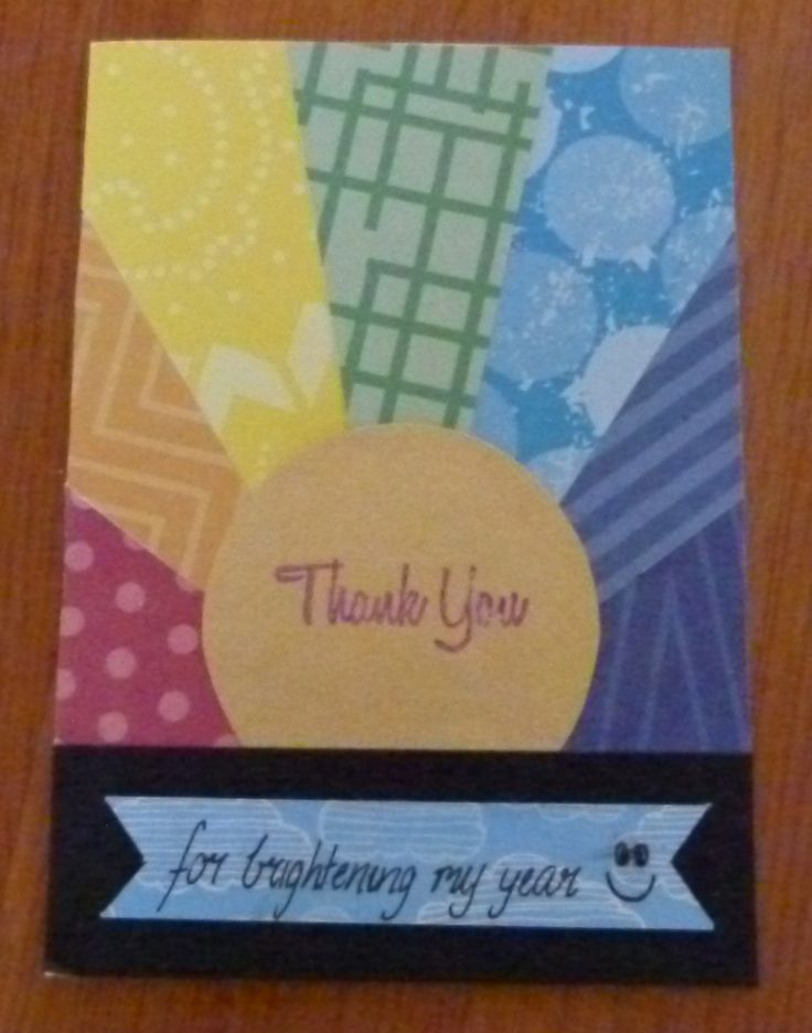 Thank You card for a bright and bubbly person