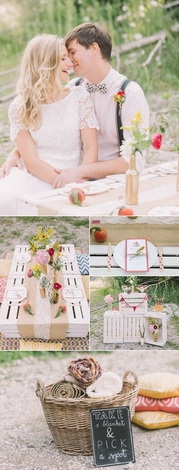 Adorable picnic wedding ideas perfect for a summer wedding | Image by Nastja Kovacec Photography