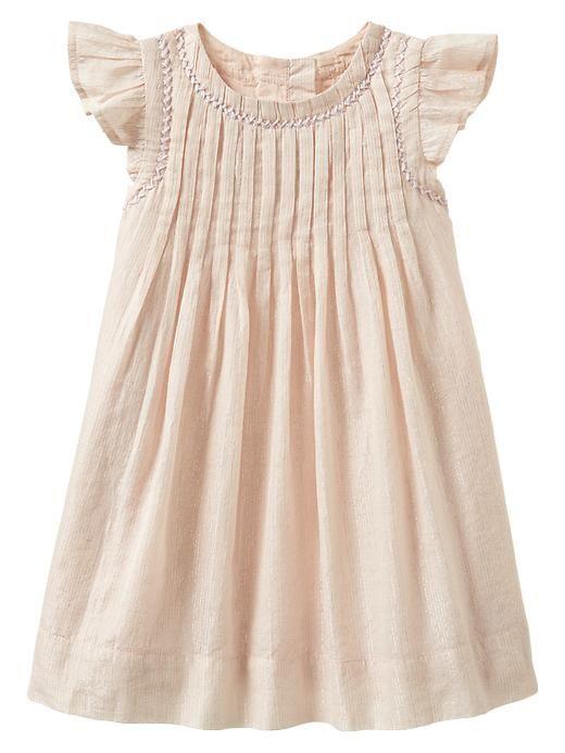 Lurex pleated dress | Gap