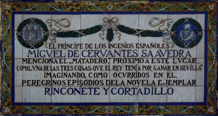 En la fachada que da hacia la Avenida Menendez y Pelayo se encuentra uno de los azulejos de la Ruta Cervantina, en el se cita el matadero que existió en este lugar, narrado en Rinconete y Cortadillo.   https://es.foursquare.com/item/54385172498e87995984eec4