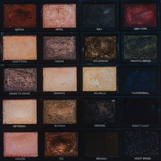 Make up beauty aesthetics // palette dark grunge tumblr hipsters