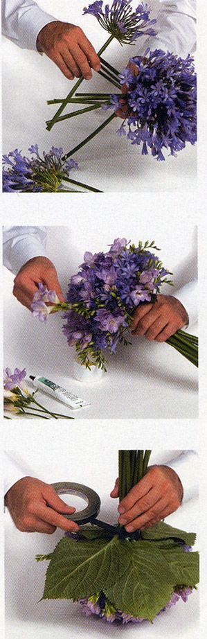 DIY:How To make a Lavender Clutch Nosegay from Florist Review's Wedding 2