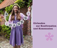 Konfirmation Kommunion Deko Girlande Dekoration renna deluxe – Minchen Bee