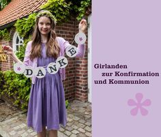 Konfirmation Kommunion Deko Girlande Dekoration renna deluxe