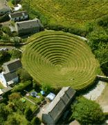 Redruth, Cornwall. Gwennap Pit is an open air amphitheatre, near Redruth in Cornwall, made famous by John Wesley, the founder of Methodism.