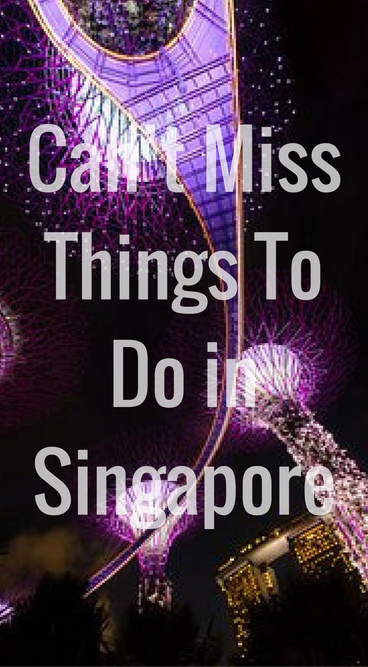 Can't Miss Things To Do In Singapore. The world's only island city-country, Singapore is a place where you can enjoy both natural and metropolitan attractions. It is known by many names, The Garden City, The Lion City or The Little Red Dot, and is a melding of Southeast Asian cultures and people. Click to read more at http://www.divergenttravelers.com/things-to-do-in-singapore/
