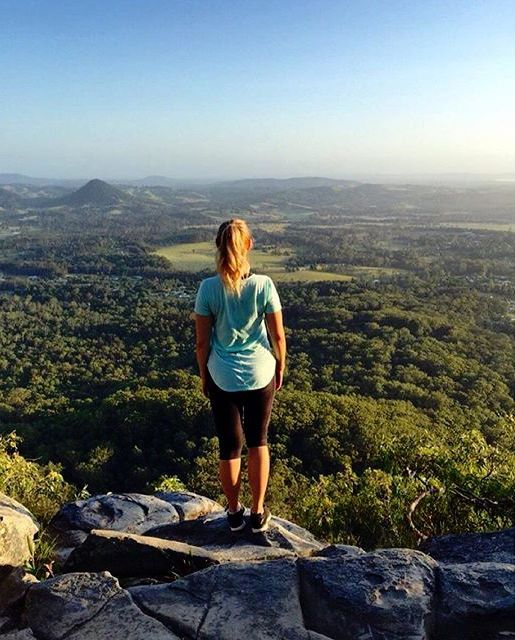 Soaking in the hinterland views from the top of Mt Cooroora  Found in the hinterland town of Pomona, the summit of Mt Cooroora offers incredible panoramic views of Noosa and surrounding areas.