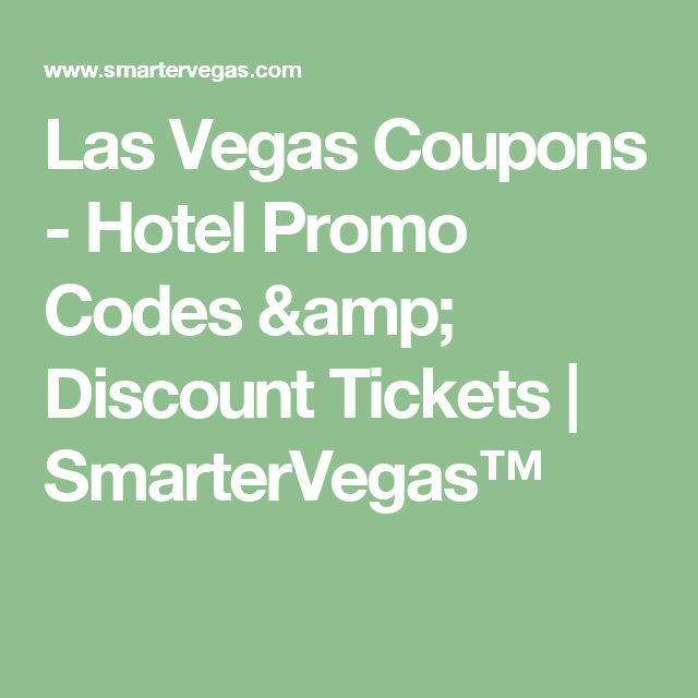 Save up to 50% on Las Vegas hotels with our promo codes and discount offers. Discounted rates are updated daily wth latest promotions, coupons and specials.