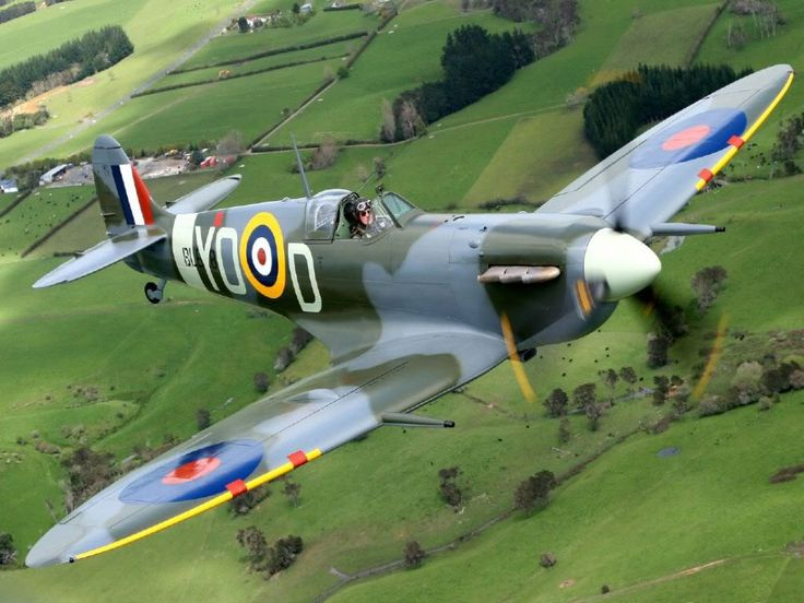 The Spitfire.   Never in the field of human conflict was so much owed by so many to so few. Sir winston Churchill