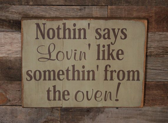 Large Wood Sign  Nothin says loving like by dustinshelves on Etsy