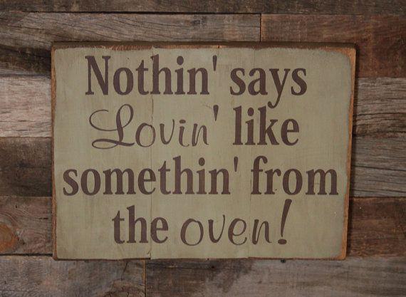 Large Wood Sign  Nothin says loving like by dustinshelves on Etsy