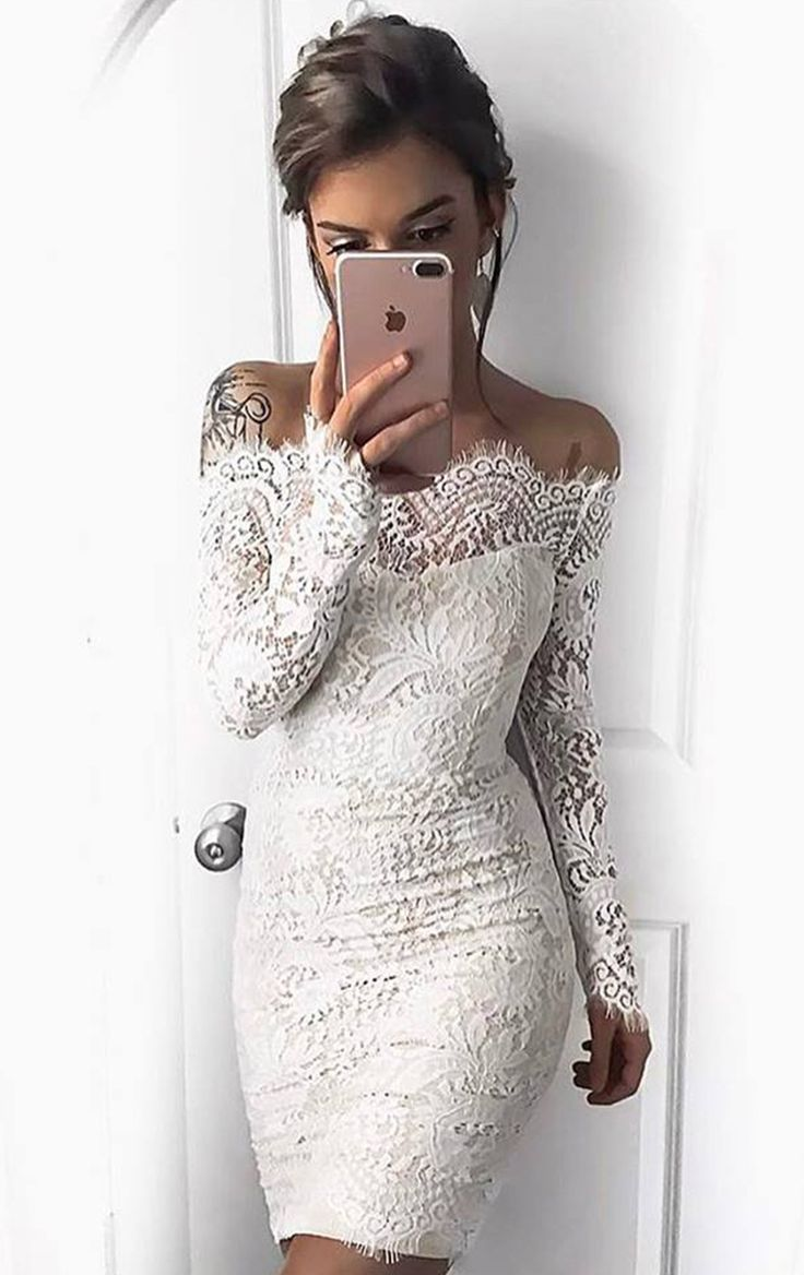 Best 25  White lace cocktail dress ideas on Pinterest | Lace ...
